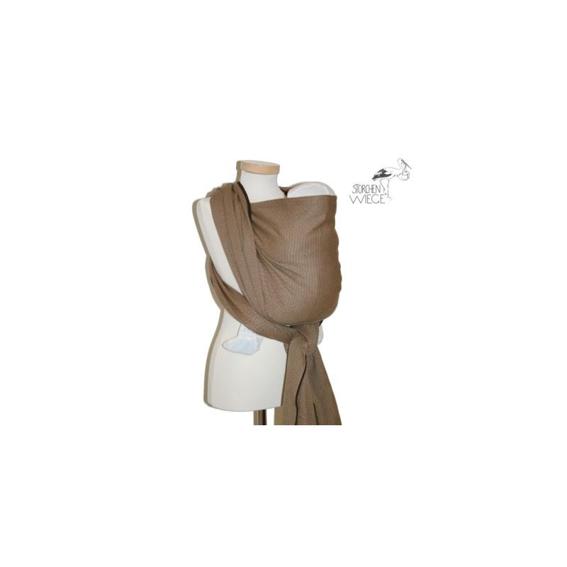 71eabc03393a L écharpe de portage Storchenwiege Léo Café est conçue pour porter sur le  ventre, sur la hanche et sur le dos dans une position agréable et  physiologique ...