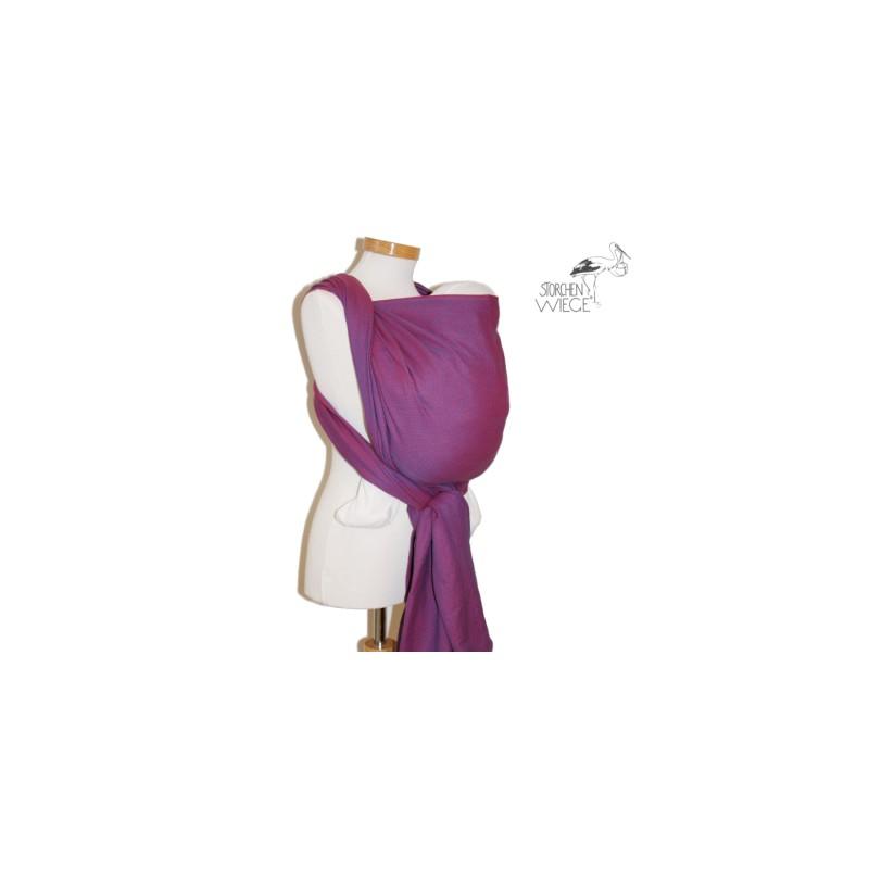 L écharpe de portage Storchenwiege Léo violet est conçue pour porter sur le  ventre, sur la hanche et sur le dos dans une position agréable et  physiologique ... 73e38af2b48