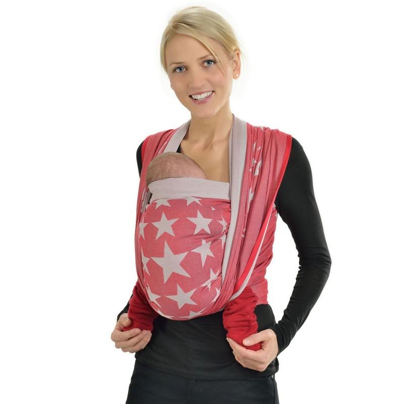 54f51c0c0dc2 L écharpe de portage Hoppediz Jacquard est conçue pour porter sur le  ventre, sur la hanche et sur le dos dans une position agréable et  physiologique pour ...