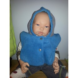 Capuchon bébé beige bleu fd0ee35862e