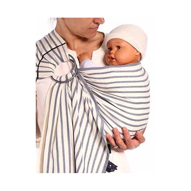 Le sling de portage de Neobulle bulline à rayures est une petite écharpe  sans noeud et un porte-bébé « tout prêt » qui permet un portage respectueux  dans ... 1df2a90729c