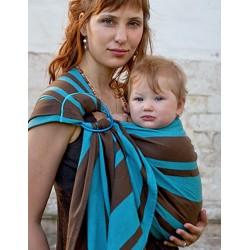 b4f81dc857e5 Sling de portage Bulline... Le sling de portage de Neobulle bulline à  rayures est une petite écharpe sans noeud et un porte-bébé « tout prêt » ...