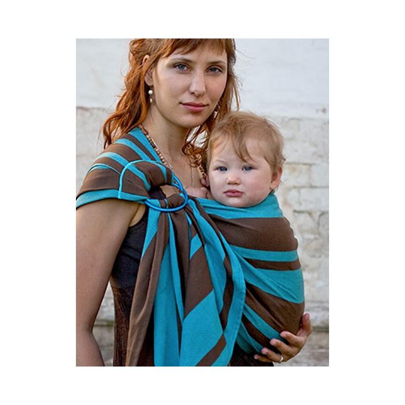 Le sling de portage de Neobulle bulline à rayures est une petite écharpe  sans noeud et un porte-bébé « tout prêt » qui permet un portage respectueux  dans ... d61a0158cb4